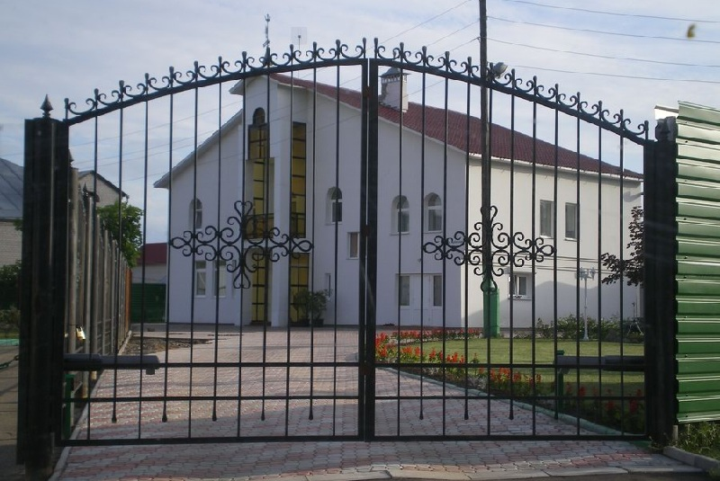 Ворота с калиткой своими руками фото